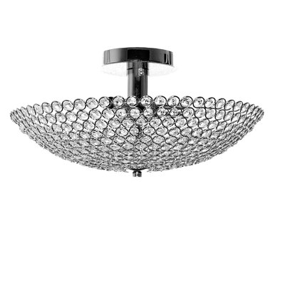 Chronus 3-Light Semi Flush Mount