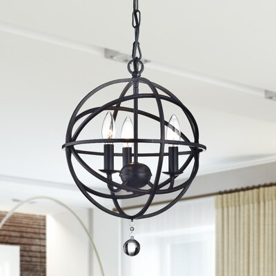 Boreas 3-Light Foyer Pendant