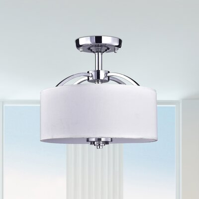 Uranus 3-Light Semi Flush Mount