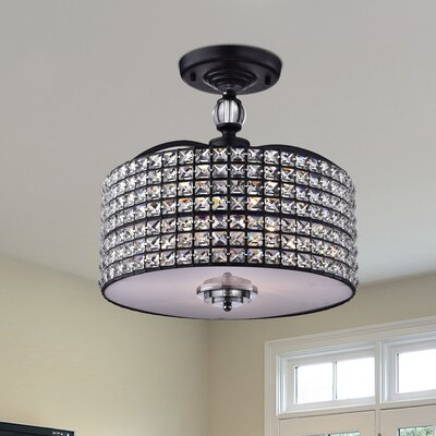 Pandia 3-Light Semi Flush Mount Finish: Brownish Black