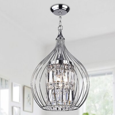Lolaus 3-Light Foyer Pendant Finish: Silver