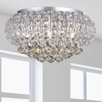 Griffin 5-Light Flush Mount Base Finish: Silver