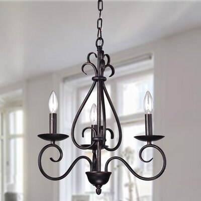 Jerome 3-Light Candle-Style Chandelier