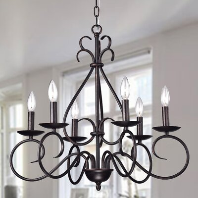 Aura 6-Light Candle-Style Chandelier