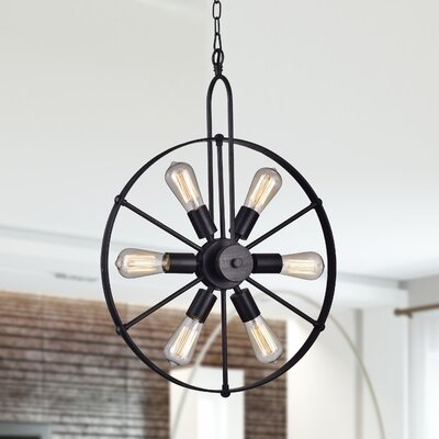 Ealing 6-Light Sputnik Chandelier