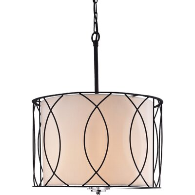 Weyant 3-Light Drum Pendant
