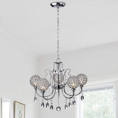 Adikia 5-Light Crystal Chandelier