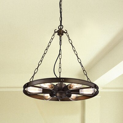 Amold 6-Light Drum Pendant
