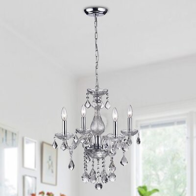 Arete 4-Light Crystal Chandelier