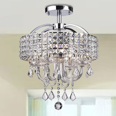 Roman 4-Light Semi Flush Mount Finish: Chrome