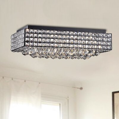 Bennett 8-Light Flush Mount Finish: Black
