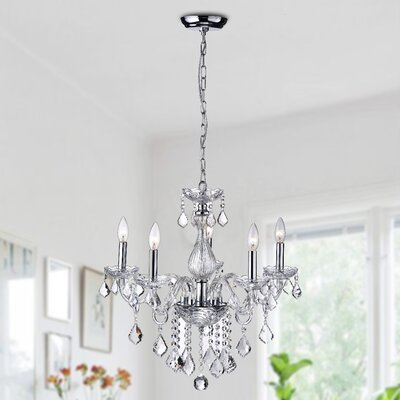 Dike 5-Light Crystal Chandelier