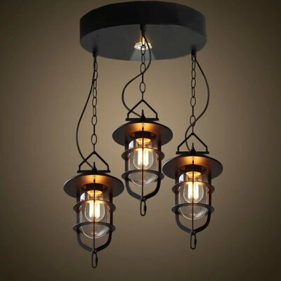 Amoll 3-Light Kitchen Island Pendant