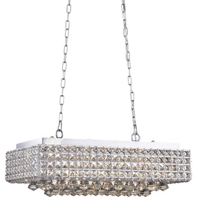 Angelia 8-Light Kitchen Island Pendant Finish: Shinny Silver
