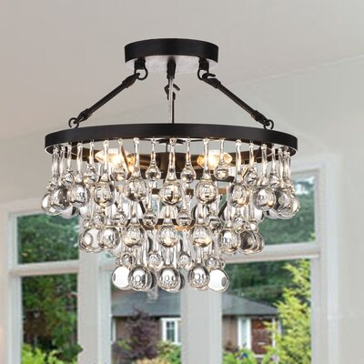 Hypnos 5-Light Semi Flush Mount Finish: Brownish Black