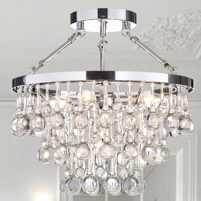 Hypnos 5-Light Semi Flush Mount Finish: Chrome