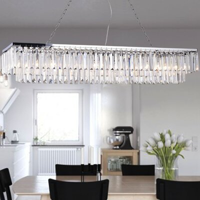 Allen 8-Light Crystal Chandelier
