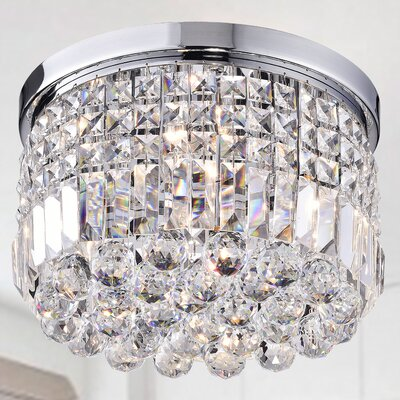 Helene 4-Light Flush Mount Finish: Chrome