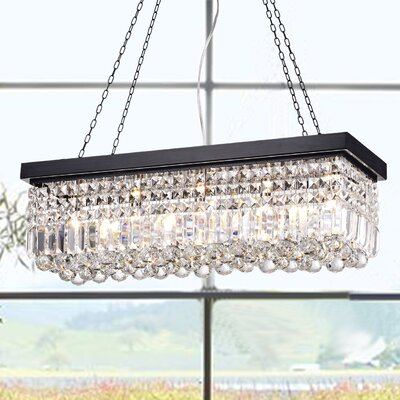 Ramsgate 5-Light Crystal Chandelier Finish: Black/Brown