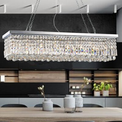 Gracelyn 8-Light Crystal Chandelier Finish: Chrome