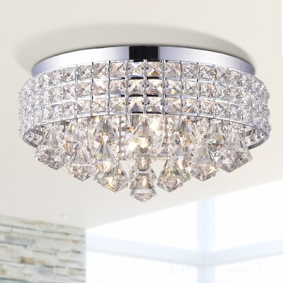 Mossley 4-Light Flush Mount Fixture Finish: Chrome