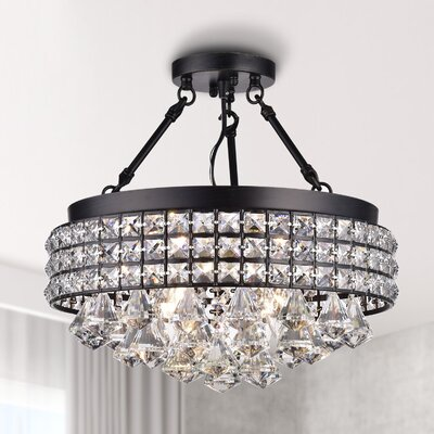Mossley 4-Light Semi Flush Mount