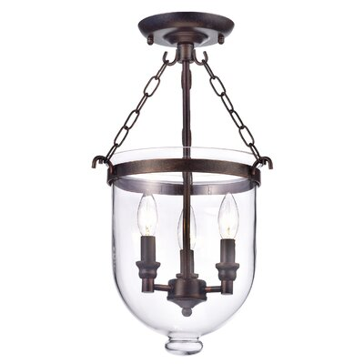 Doveton 3-Light Semi Flush Mount