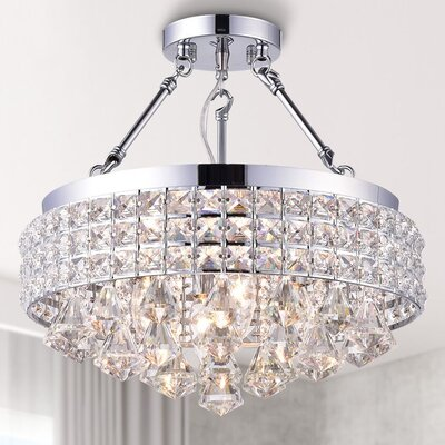 Nelia 3-Light Semi Flush Mount