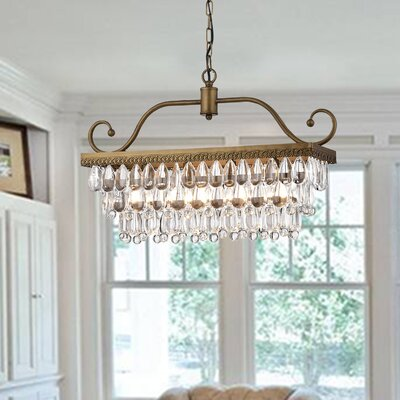Gerhart 4-Light Crystal Chandelier Finish: Golden Bronze