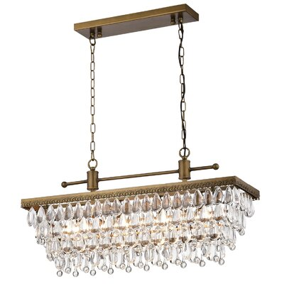 Thora 4-Light Crystal Chandelier Finish: Golden Bronze