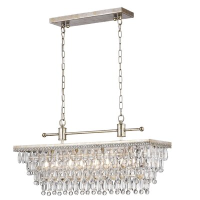 Barta 4-Light Crystal Chandelier Finish: Antique Silver