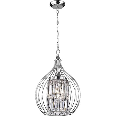 Lcarus 3-Light Foyer Pendant Finish: Silver