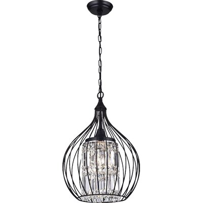 Lcarus 3-Light Foyer Pendant Finish: Black