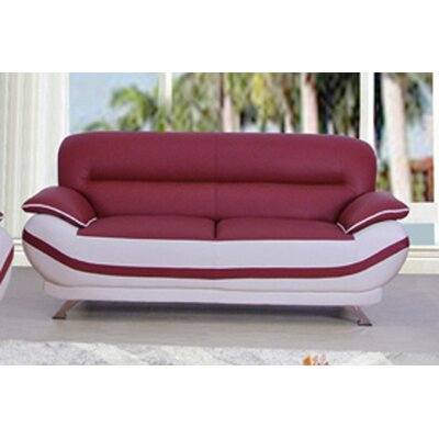 Cecilia Loveseat Upholstery: Red / Off-White