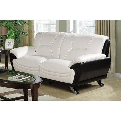 Tina Sofa Upholstery: White / Black