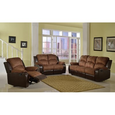 Torian 3 Pieces Recliner Sofa Set