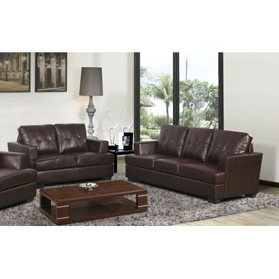 Cecilia 2 Piece Living Room Set Upholstery: Brown