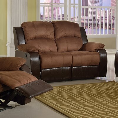 SF1003-L QRMG1021 Beverly Fine Furniture Pamela Microsuede Reclining Loveseat