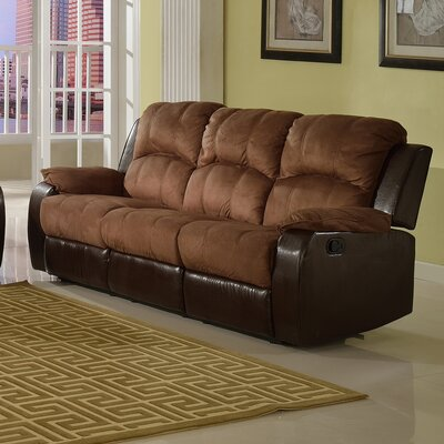 SF1003-S QRMG1022 Beverly Fine Furniture Pamela Microsuede Reclining Sofa