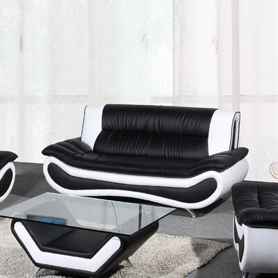 Lena Sofa Upholstery: Black / White