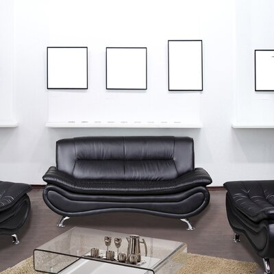 Lena Sofa Upholstery: Black