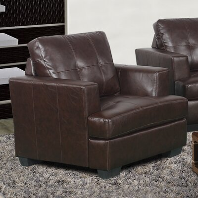 Cecilia Lounge Chair Upholstery: Brown