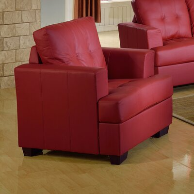 Cecilia Lounge Chair Upholstery: Red