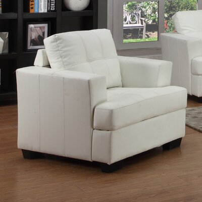 Cecilia Lounge Chair Upholstery: White