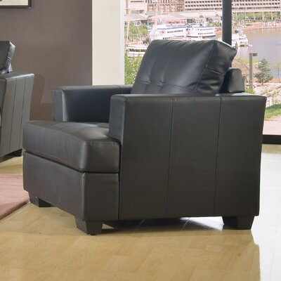 Cecilia Lounge Chair Upholstery: Black