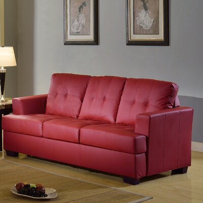 Cecilia Sofa Upholstery: Red
