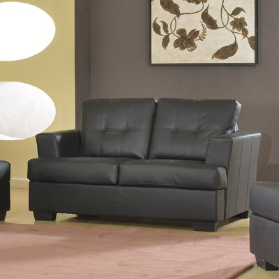 Cecilia Loveseat Upholstery: Black