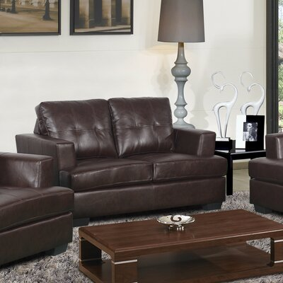 Cecilia Loveseat Upholstery: Brown