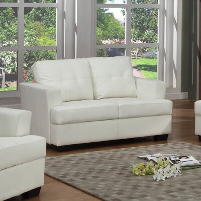 Cecilia Loveseat Upholstery: White