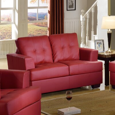 Cecilia Loveseat Upholstery: Red